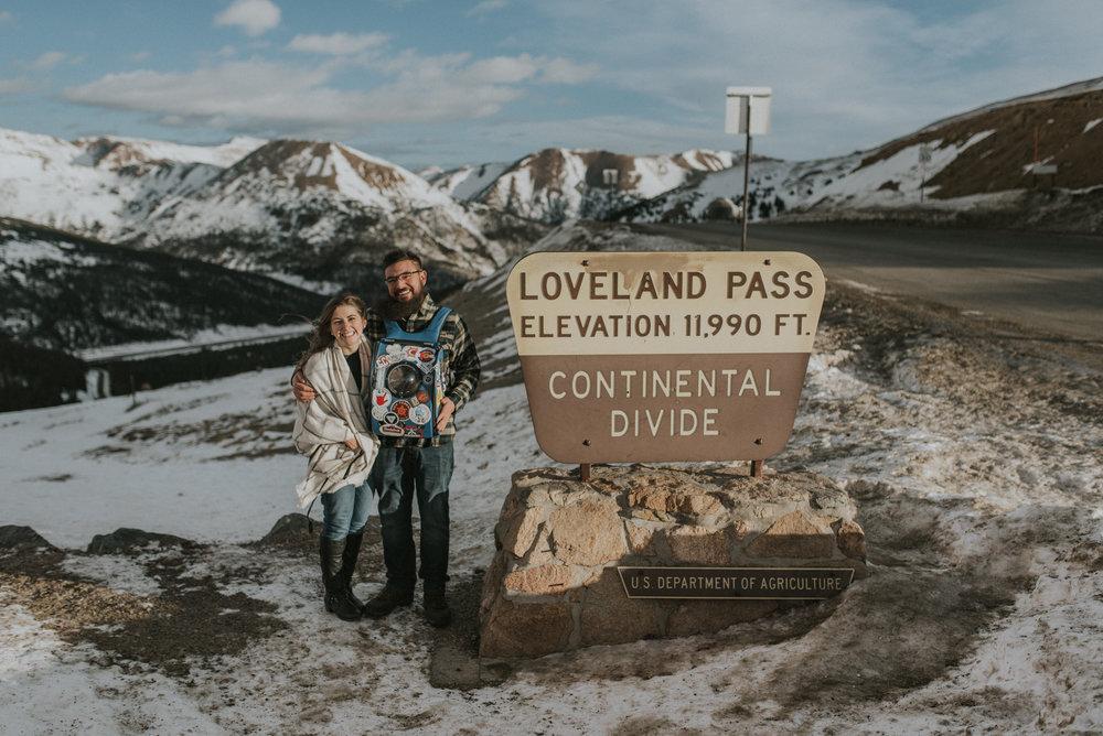 Loveland Pass, Rocky Mountain adventure elopement.