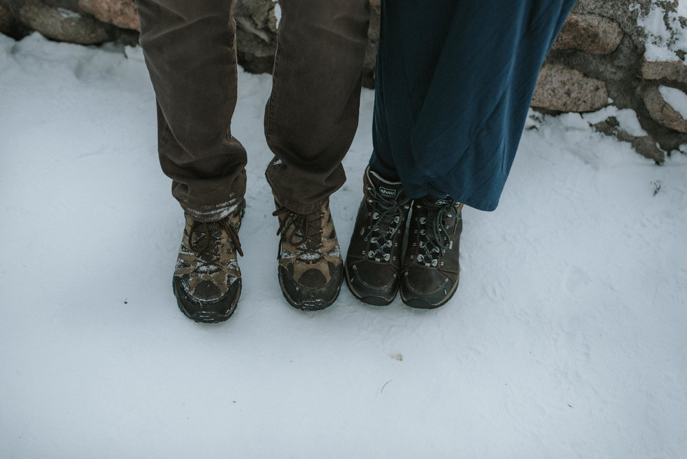 Hiking engagement session at Sapphire Point in Colorado.