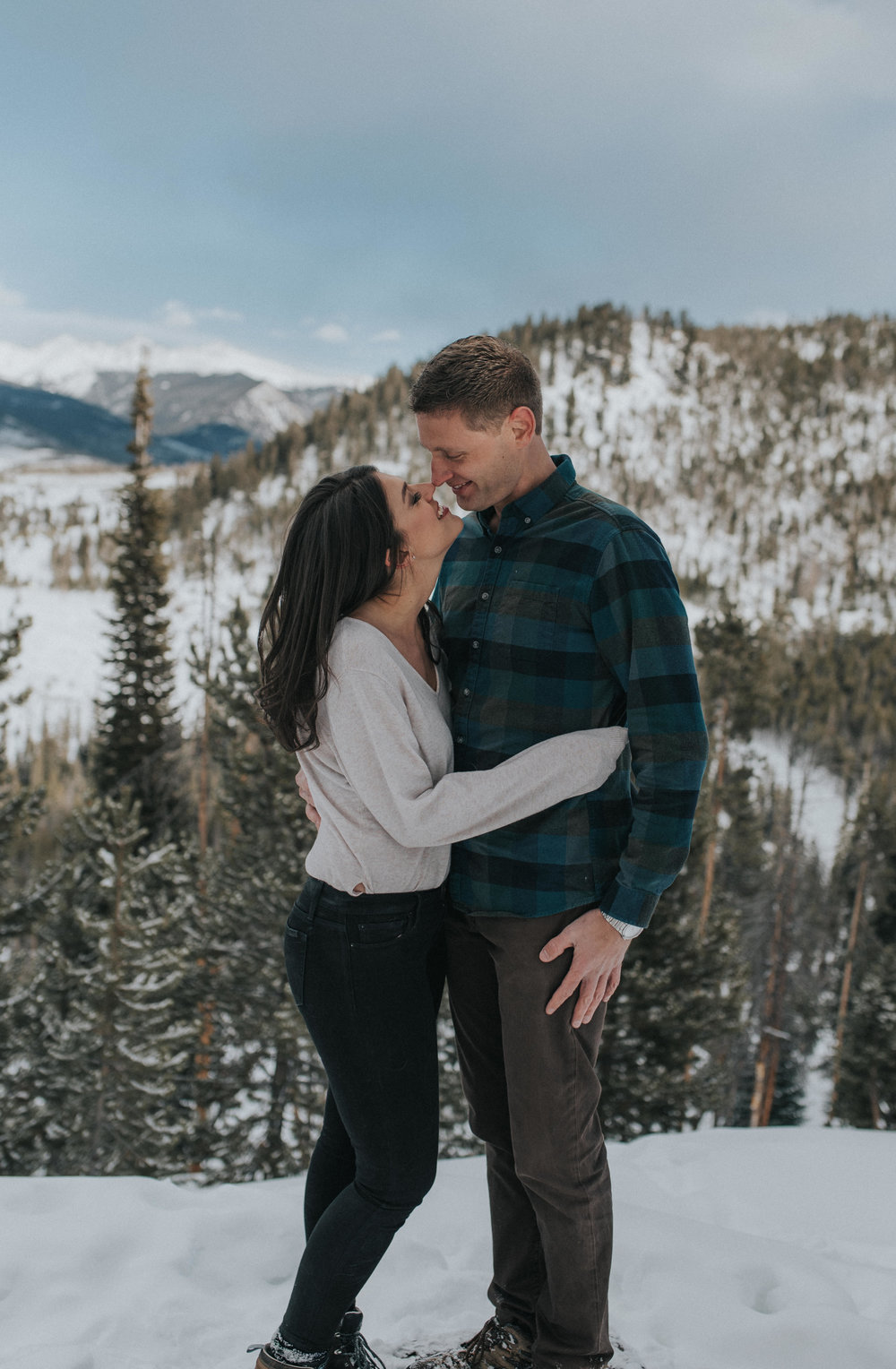 Engagement photos in the Colorado Rocky Mountains.