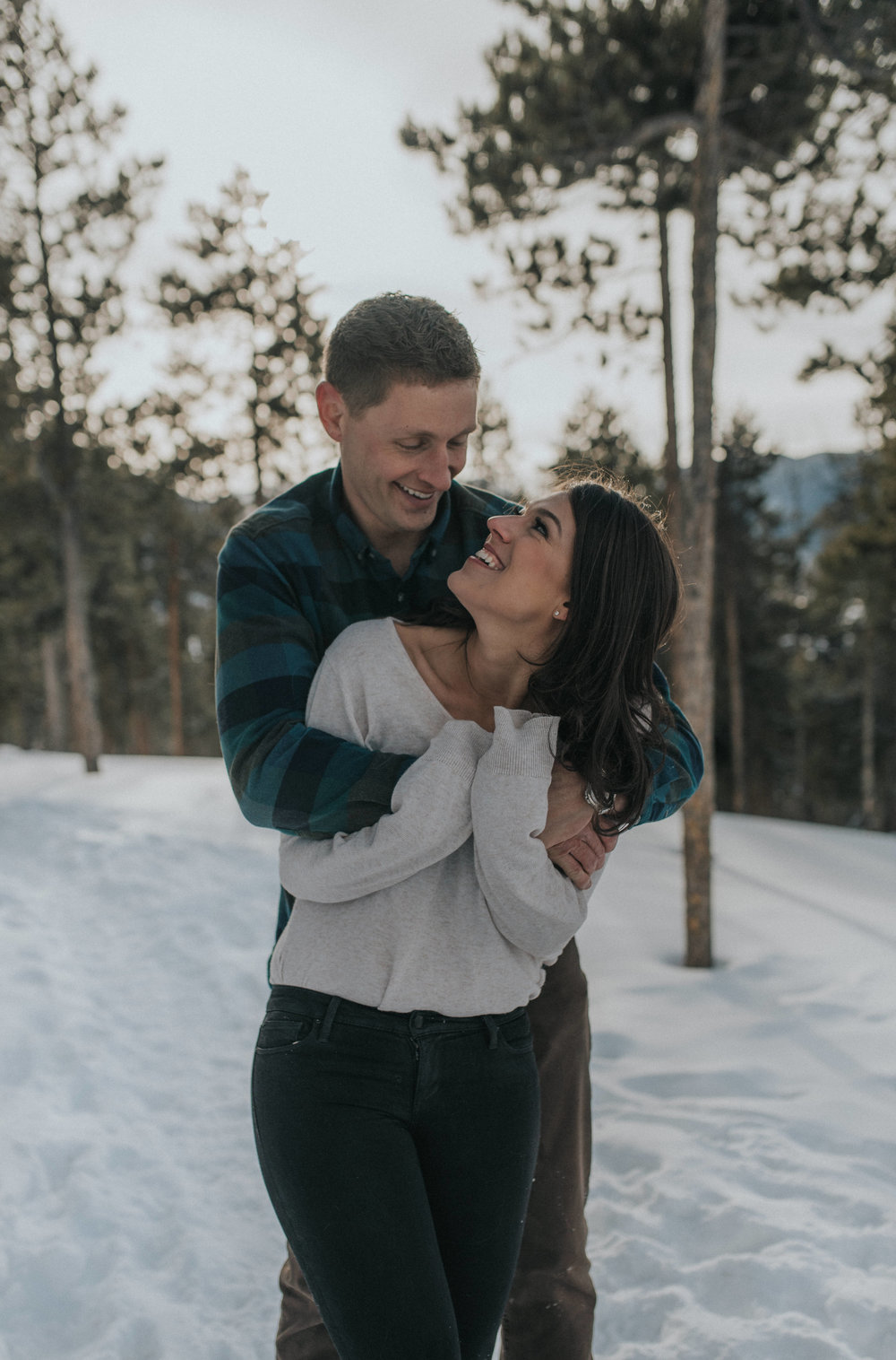Engagement photos at Lake Dillon in Colorado. Denver wedding and elopement photographer.