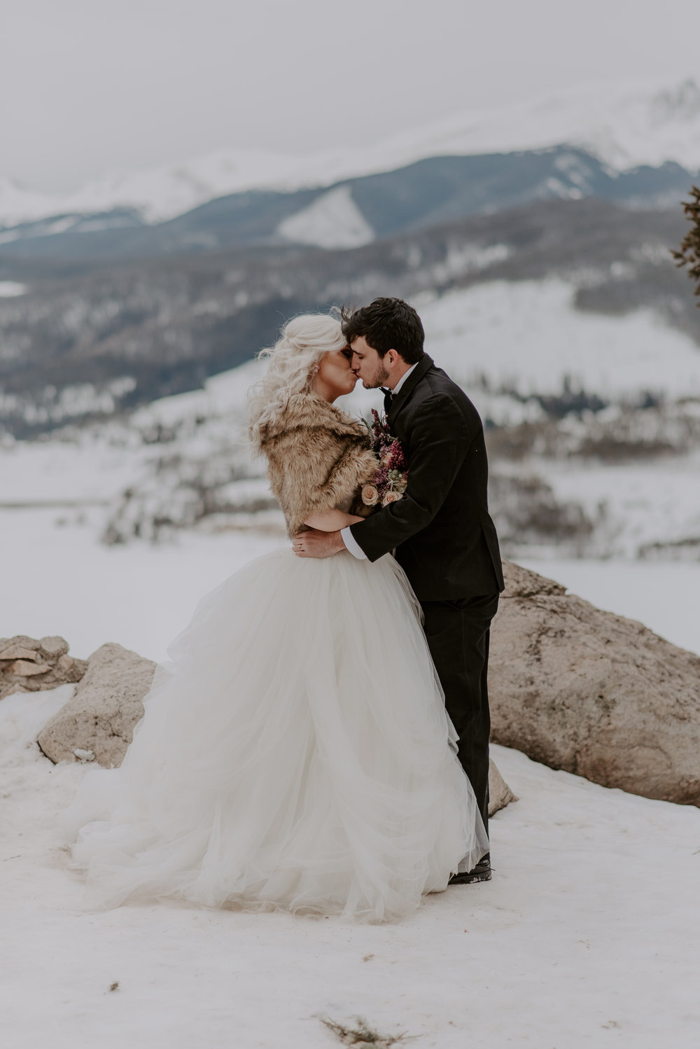 Destination adventure elopement at Sapphire Point in Colorado.