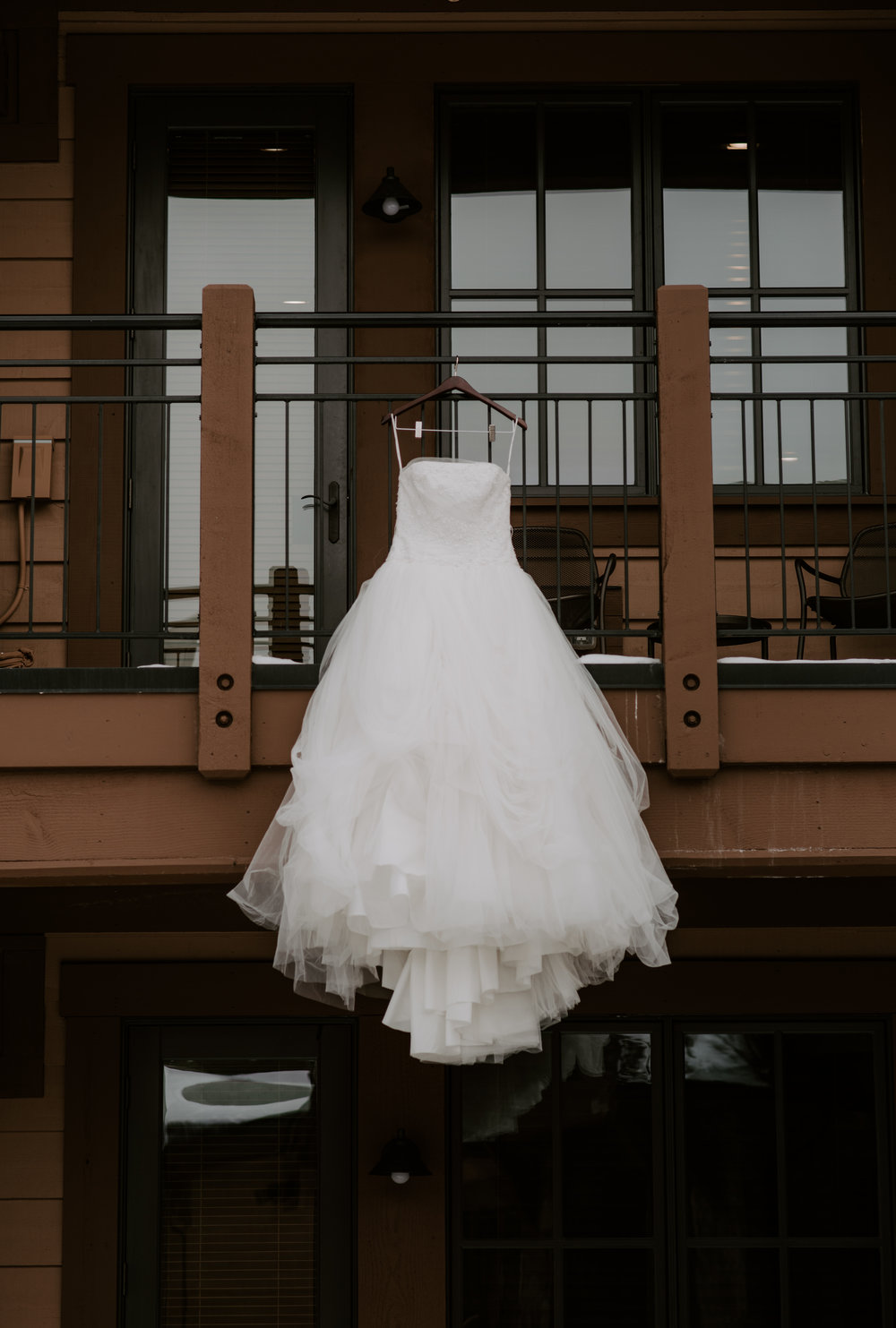 Wedding dress shot by Alyssa Reinhold, Colorado wedding photographer.