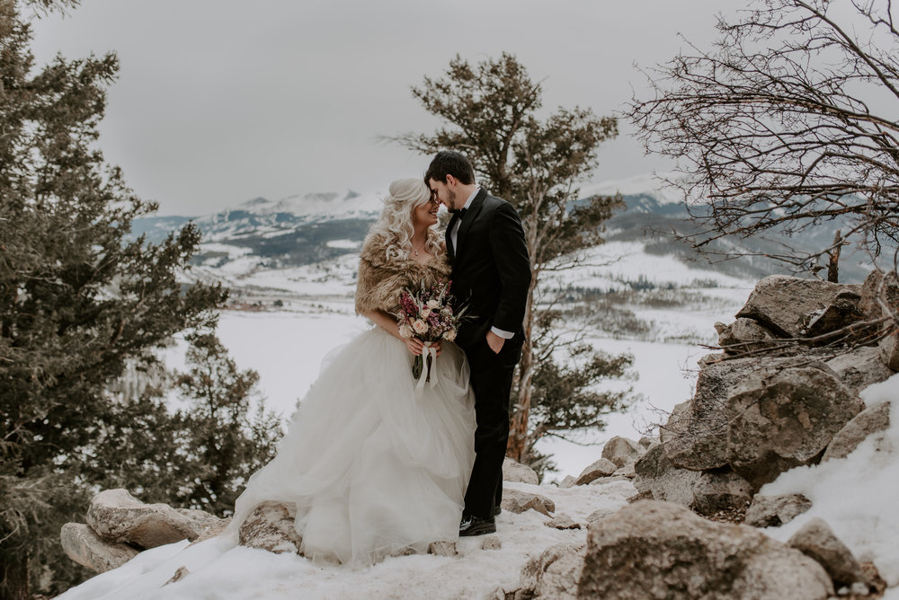 A self-solemnizing elopement at Sapphire Point in Dillon, CO. Colorado adventure elopement photographer.