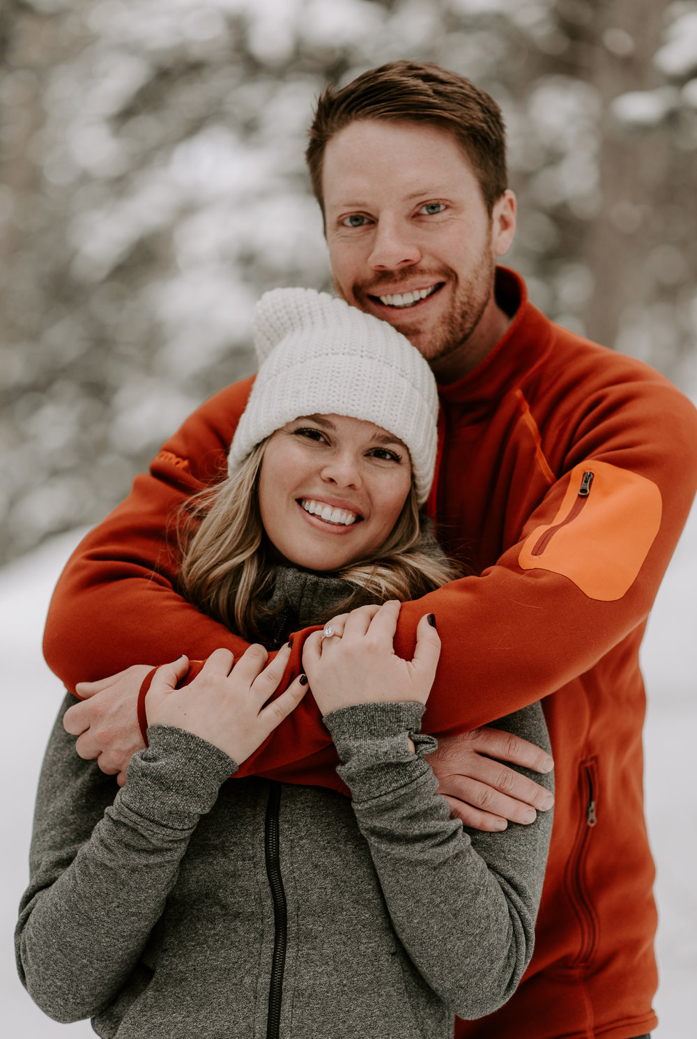 Winter engagement session at Boreas Pass in Breckenridge.