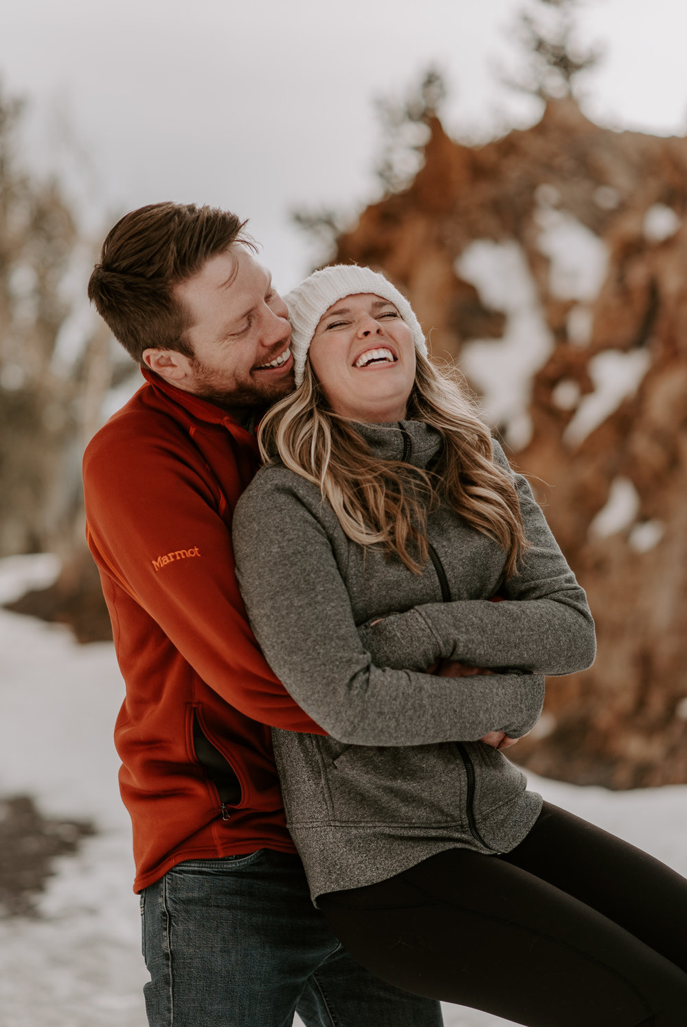 Winter engagement session in Breckenridge, Colorado. Colorado Wedding and elopement photographer.