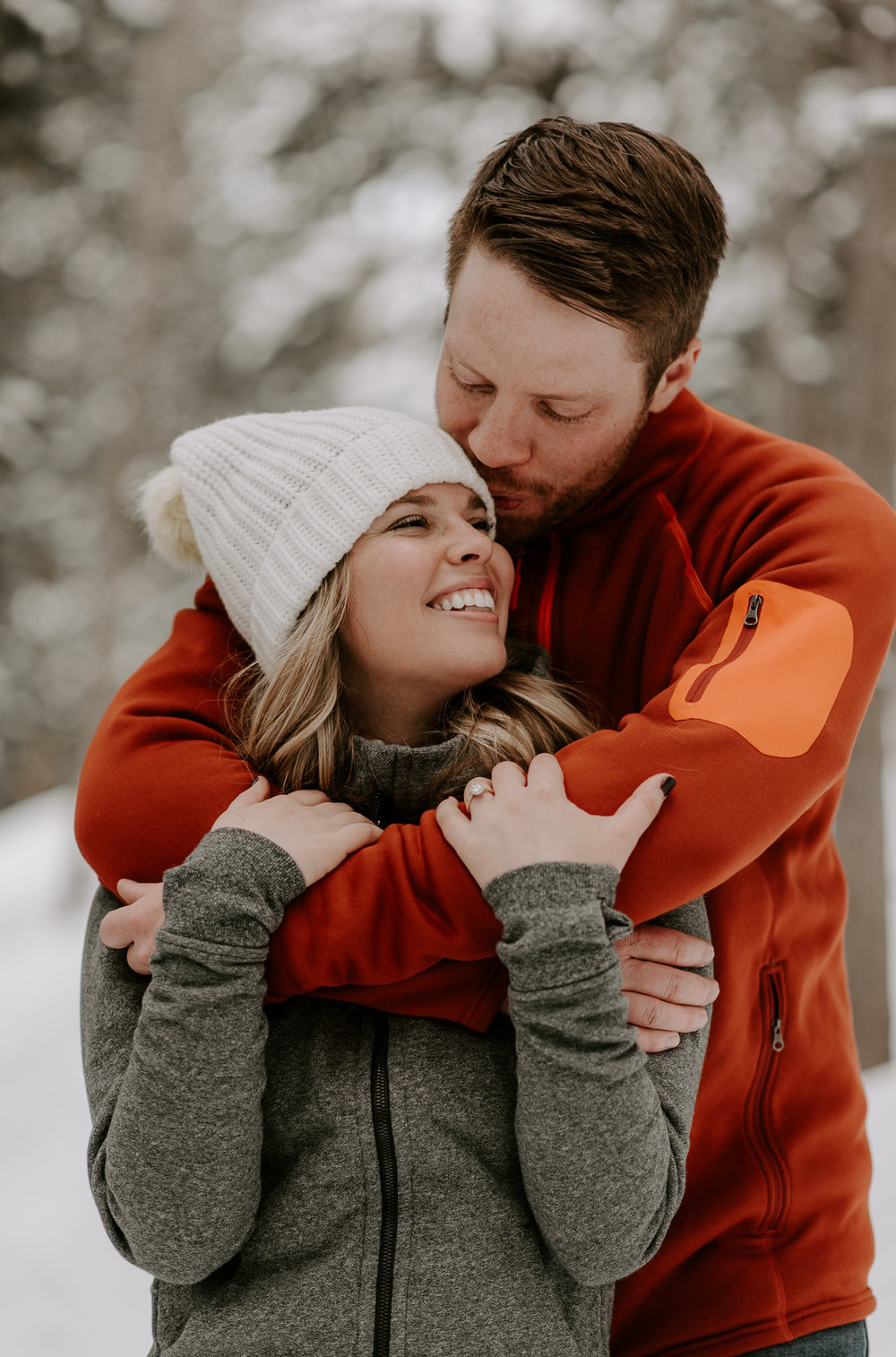 Boreas Pass in Breckenridge, Colorado engagement session photographer.