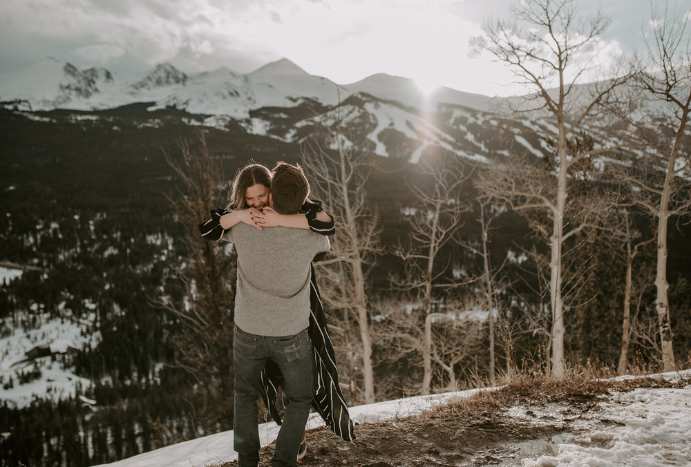 Winter elopement at Boreas Pass in Colorado