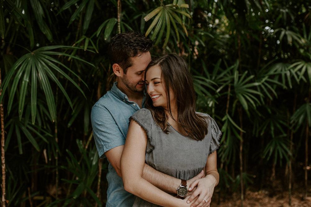 Sarah & Matt's engagement session at Sunken Gardens in Florida