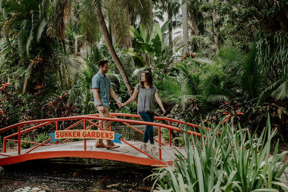 Sunken Gardens engagement session in St. Petersburg, Florida