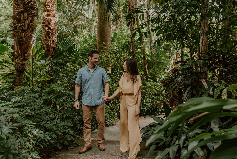 Sunken Gardens engagement photographer