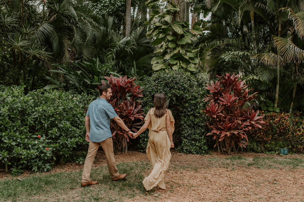 Engagement session photographer, Sunken Gardens in Florida.