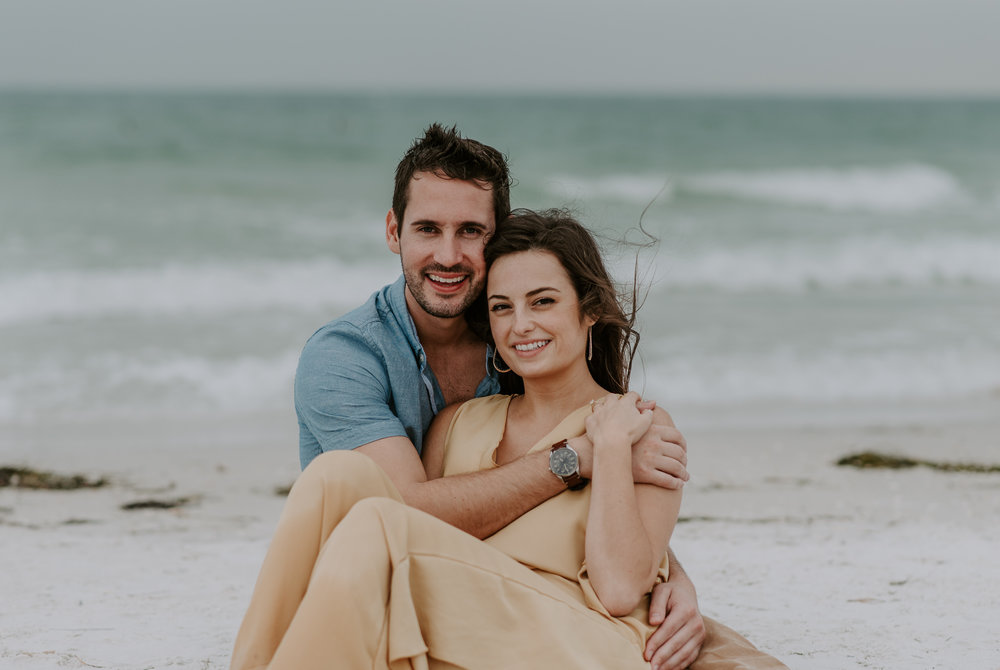 Fort De Soto in Florida engagement session photography