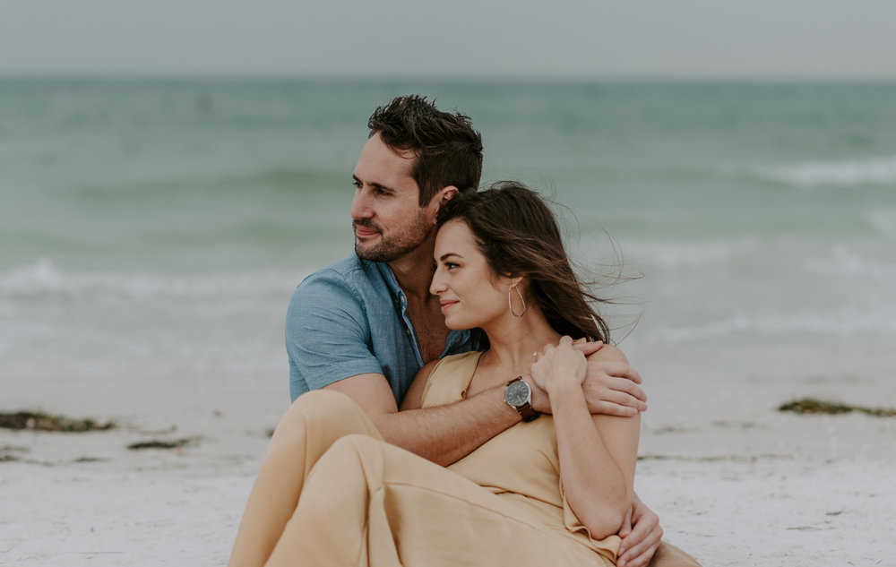 Beach engagement photos in St. Petersburg, Florida