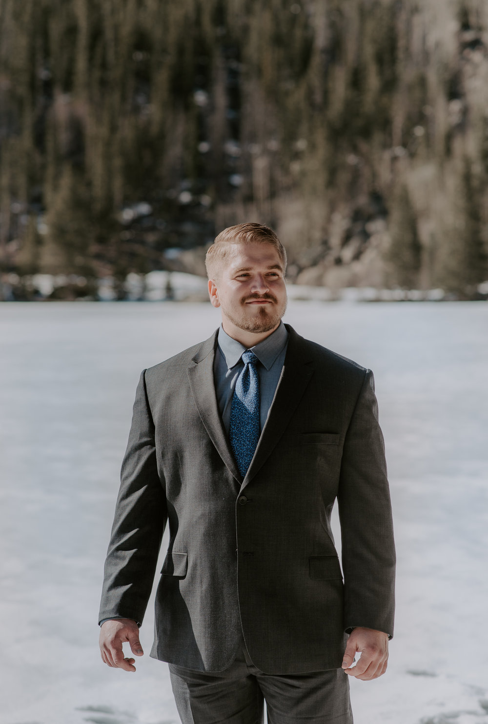 Rocky Mountain National Park elopement at Bear Lake.