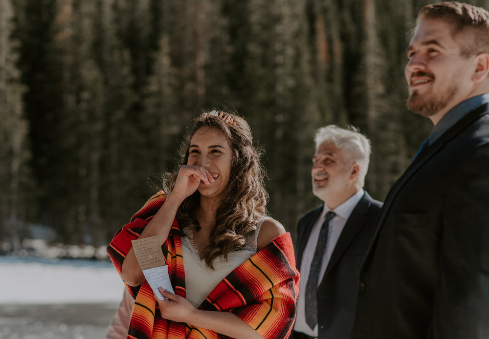 Colorado adventure elopement photographer. Elopement at Bear Lake in Rocky Mountain National Park.