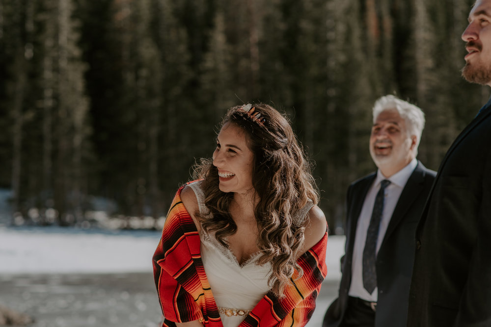 Colorado adventure elopement in RMNP. Estes Park elopement photographer.