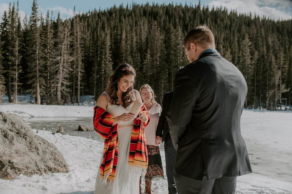 Elopement in the Rocky Mountains at Bear Lake.