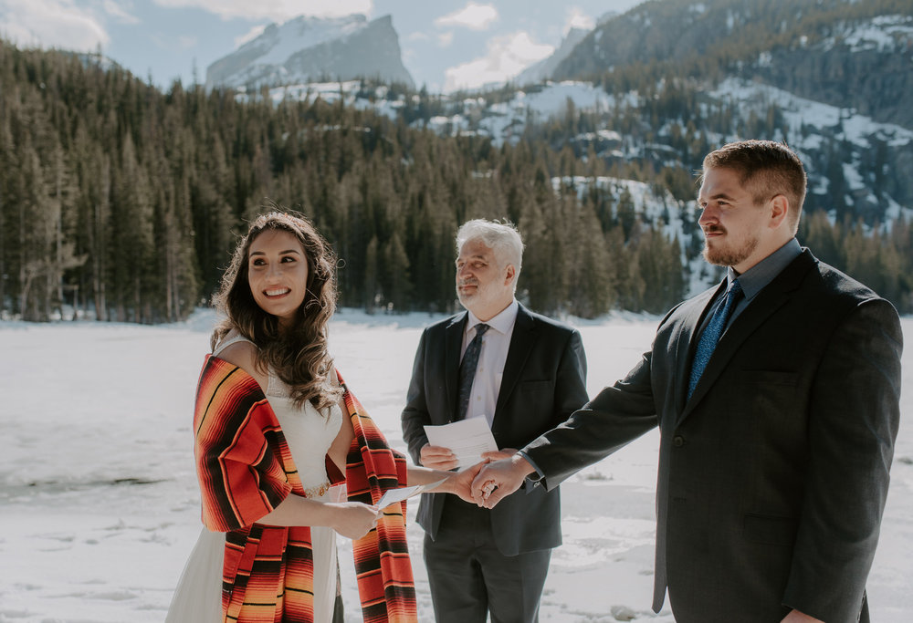 RMNP elopement at Bear Lake. Colorado wedding photographer.