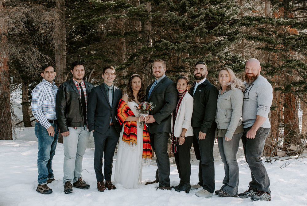 Intimate wedding at Bear Lake photos