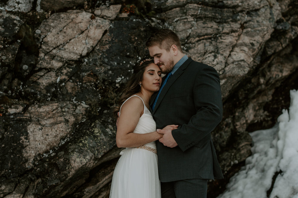 Colorado mountain adventure elopement photography