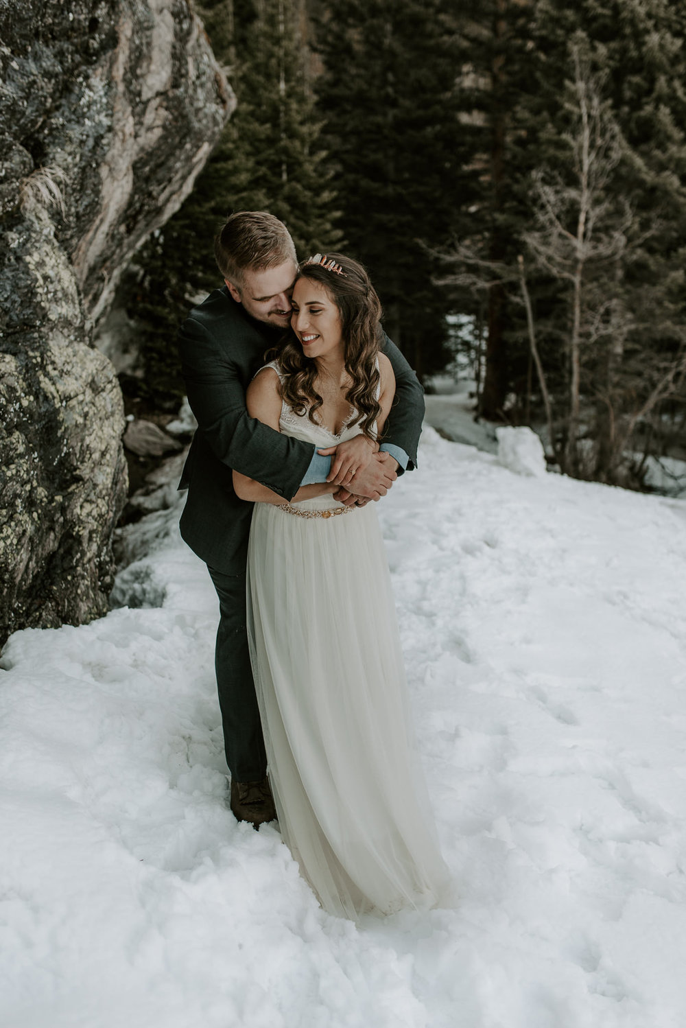 Colorado mountain elopement photos