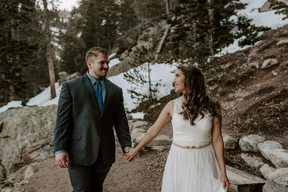 Mountain wedding photographer in Denver, Colorado