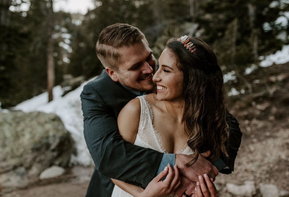 Wedding photography in Rocky Mountain National Park