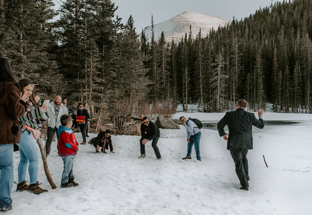 Intimate wedding at Rocky Mountain National Park in Colorado