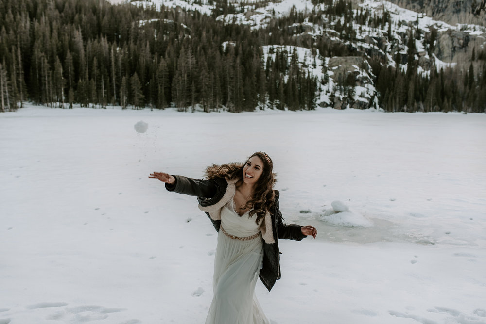 Rocky Mountain National Park intimate wedding photographer
