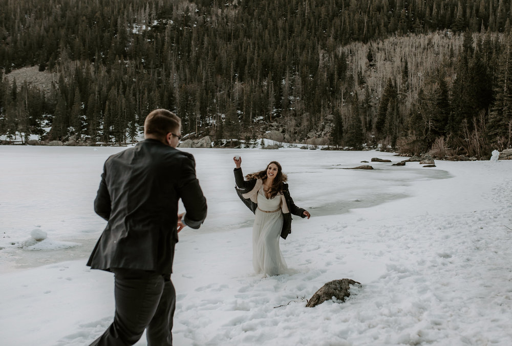 Rocky Mountain National Park intimate wedding