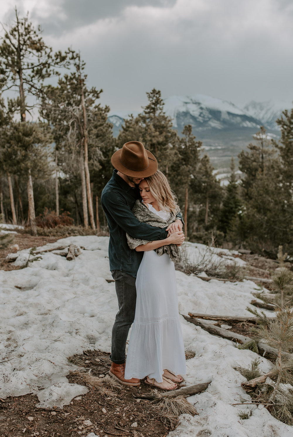 Colorado adventure elopement and wedding photographer. Adventure elopement at Sapphire Point.