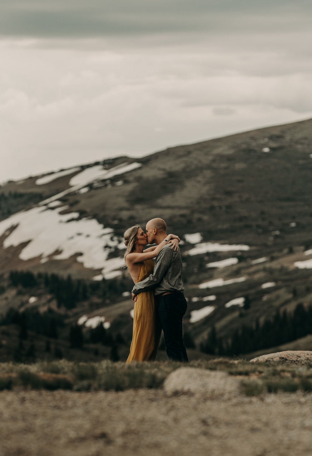 Guanella Pass engagement session in Georgetown, Colorado