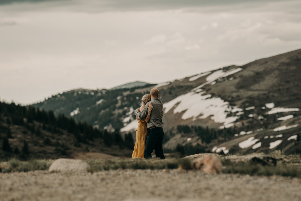 Adventure engagement session at Guanella Pass