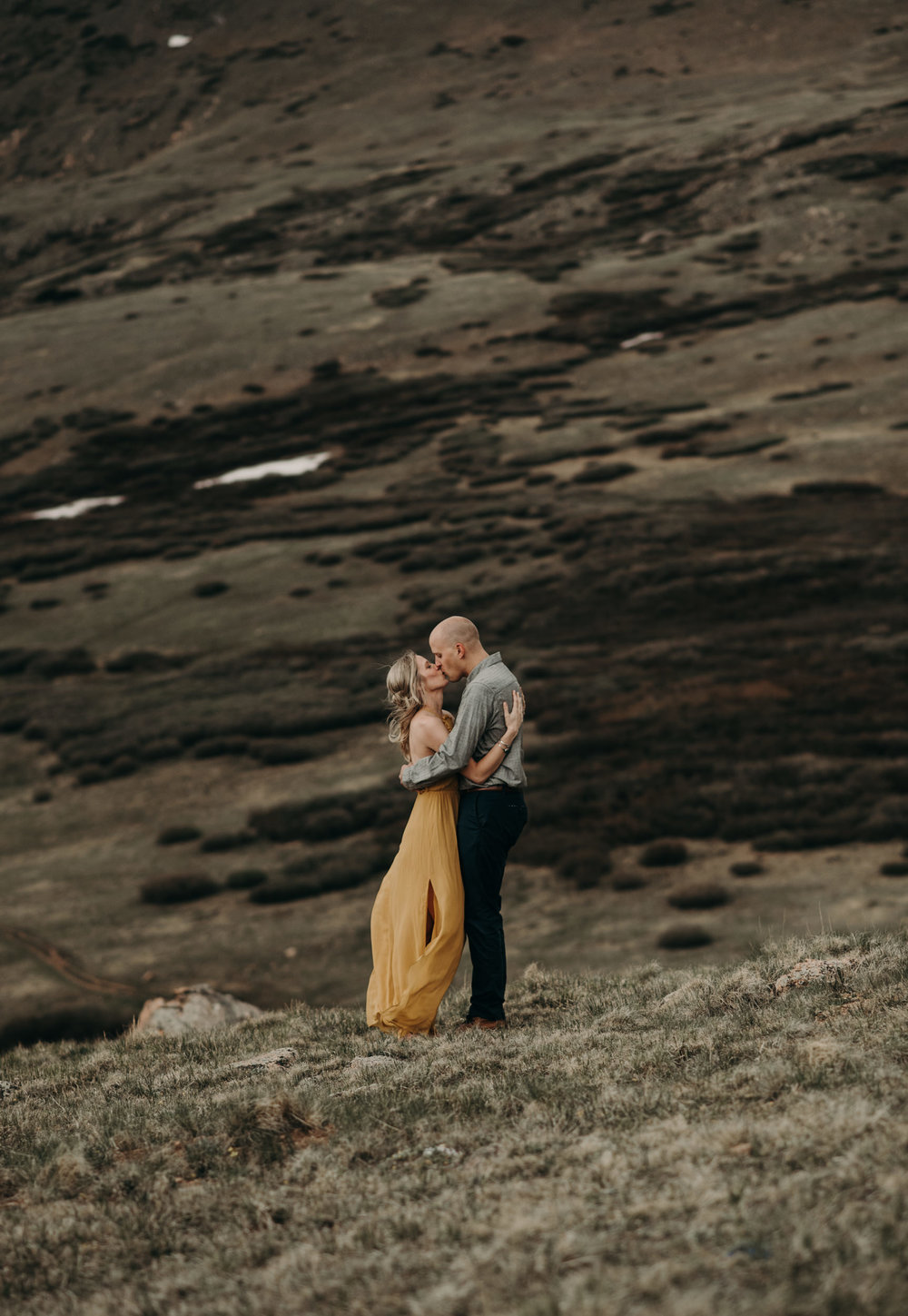 Mountaintop engagement session at Guanella Pass in Georgetown, Colorado