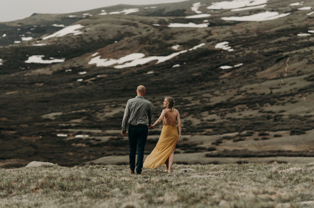 Colorado elopement at Guanella Pass in Georgetown. Colorado wedding and elopement photographer.