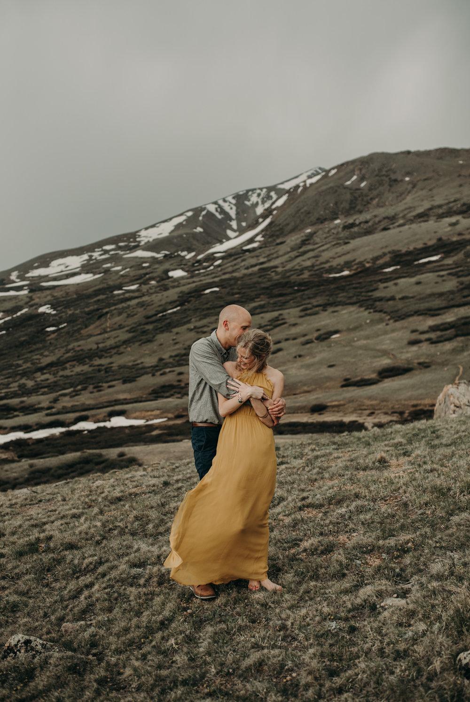 Colorado adventure elopement at Guanella Pass. Colorado elopement photographer.