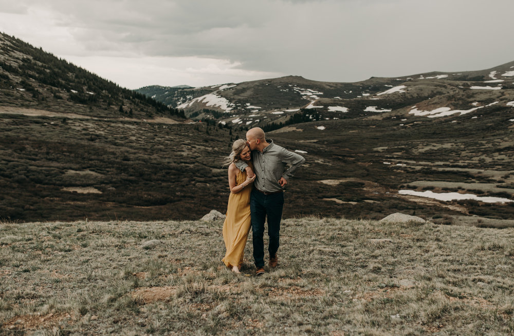 Intimate adventure wedding at Guanella Pass. Colorado elopement and wedding photographer.