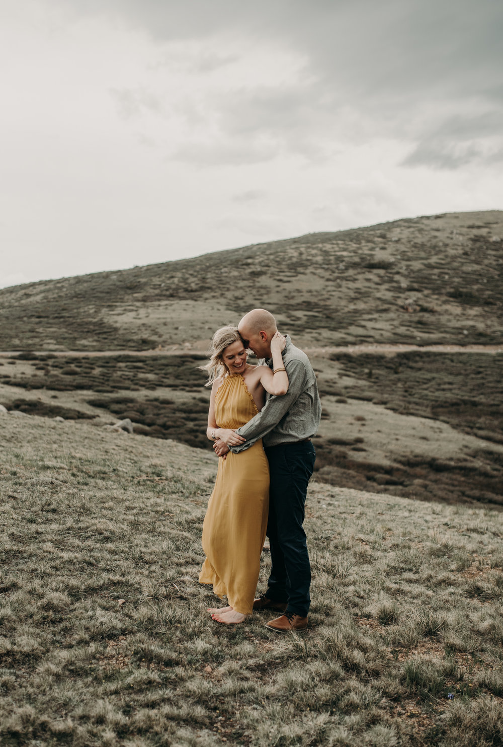 Colorado adventure elopement photographer. Guanella Pass engagement session.