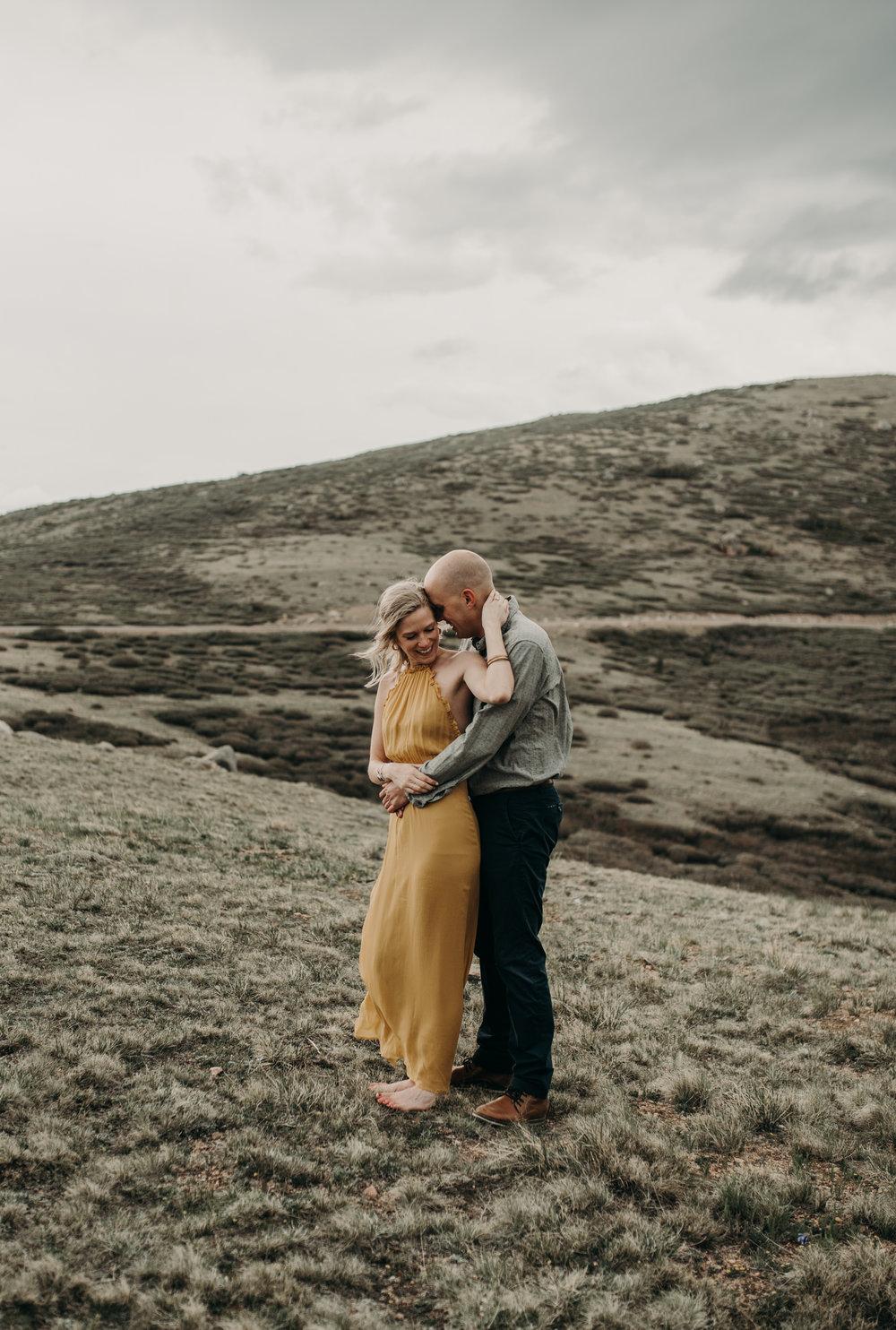 Colorado adventure elopement photographer. Guanella Pass engagement session.