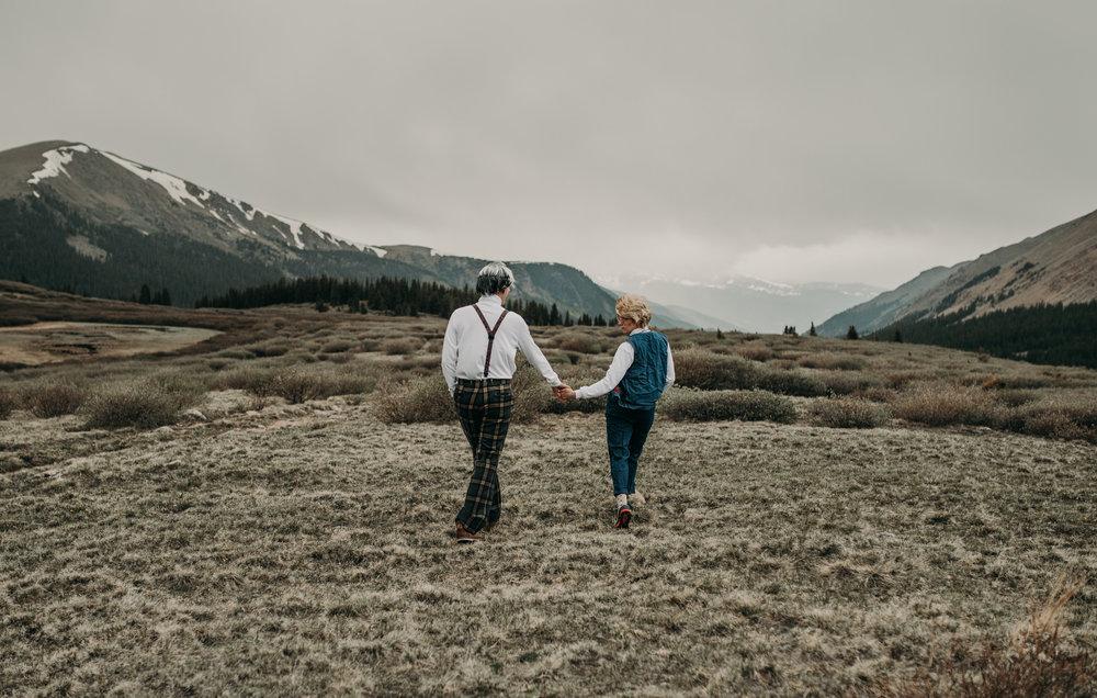 Adventure engagement in Georgetown, Colorado
