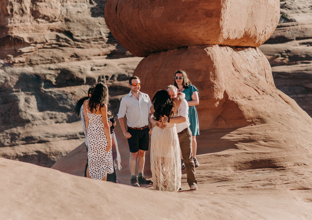 Intimate wedding in Moab.