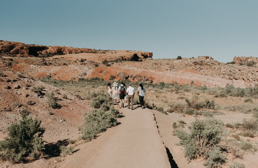 Arches National Park intimate wedding. Moab elopement photographer.
