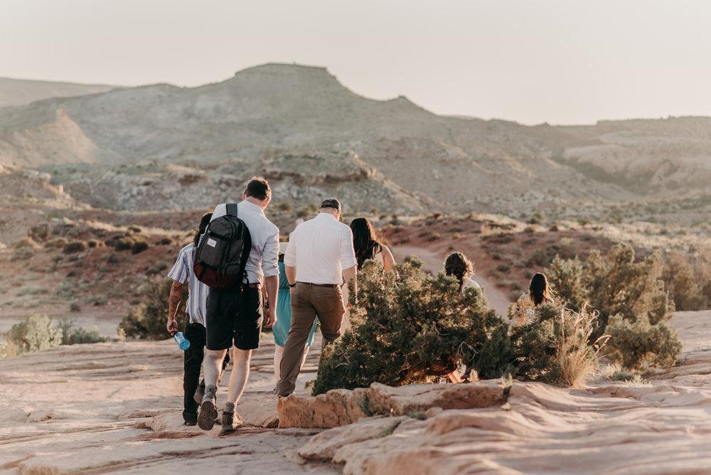 Elopement photos at Arches National Park