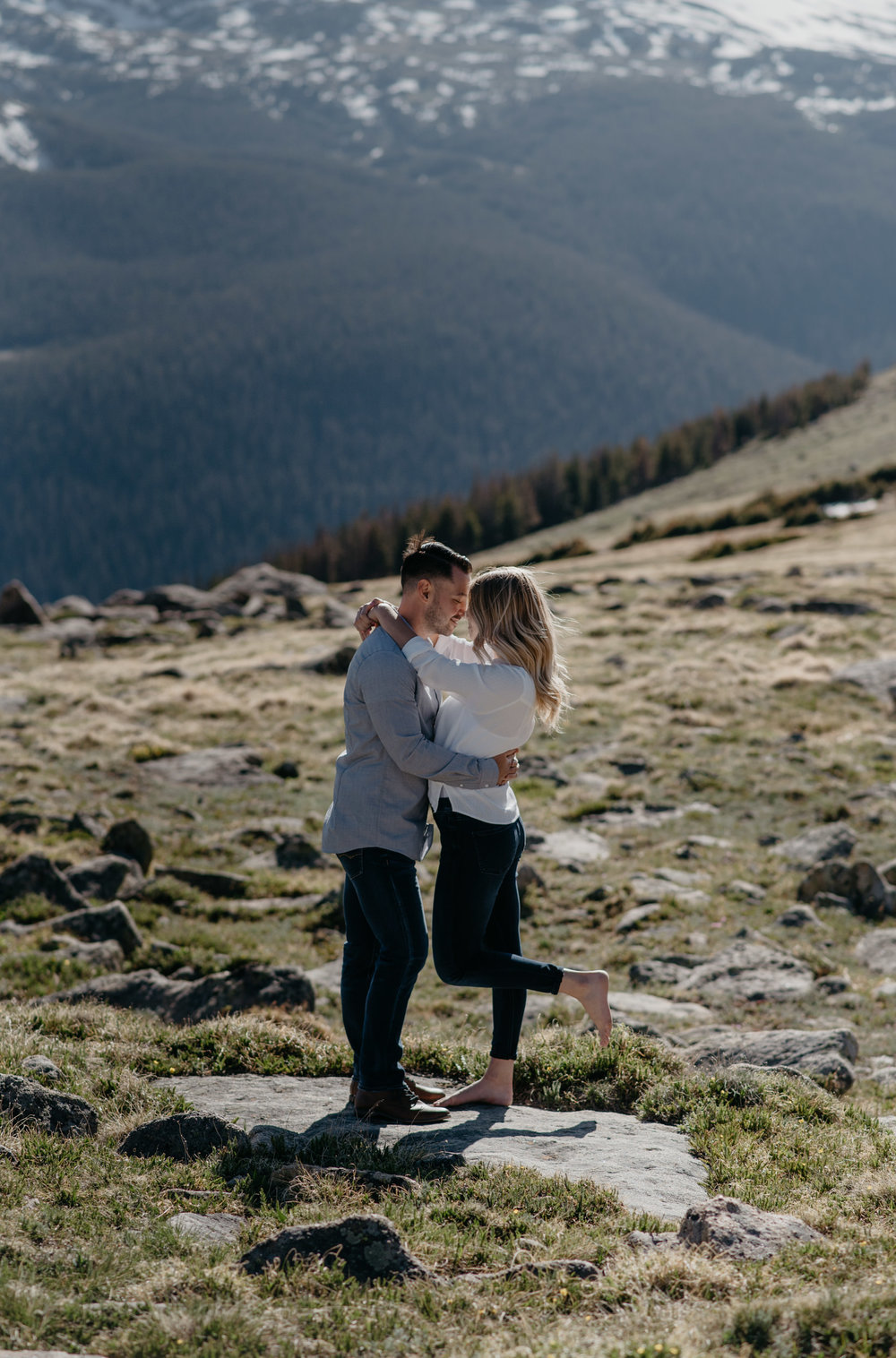 Trail Ridge Road engagement session