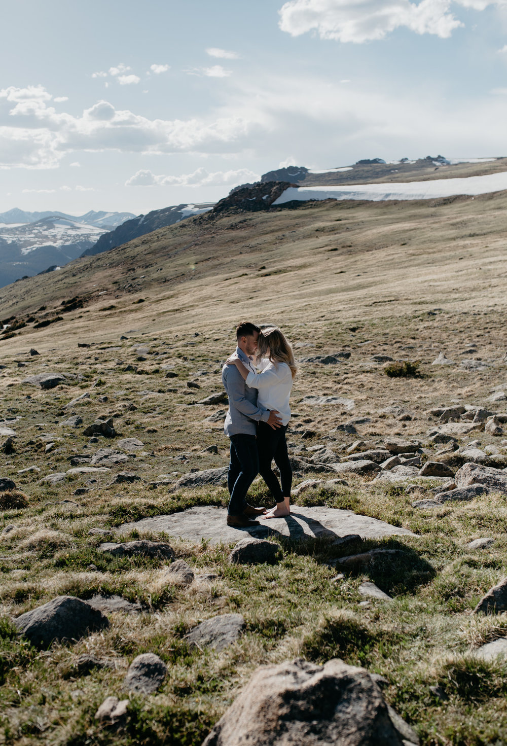 Rocky Mountain National Park adventure engagement session