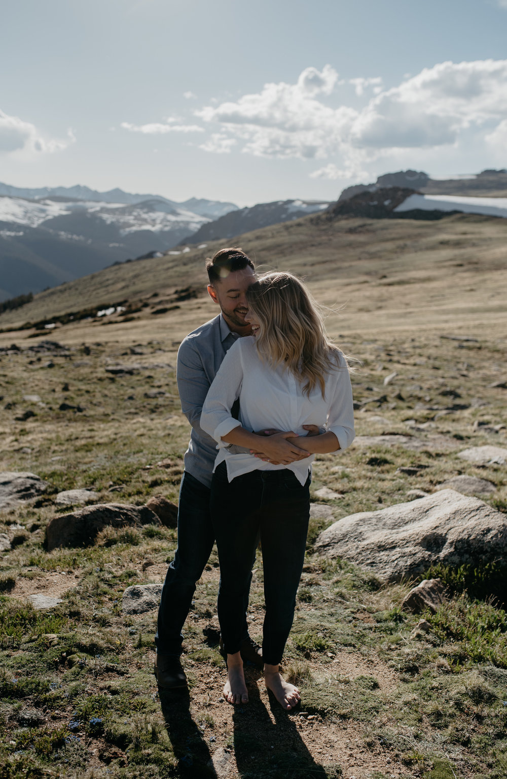 Colorado intimate wedding photographer. Mountain elopement in Colorado.