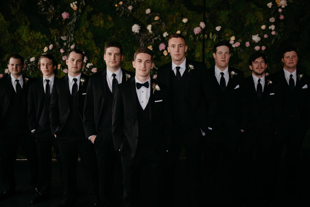 Wedding in Denver, Colorado at Moss. Groomsmen photos by Colorado wedding photographer Alyssa Reinhold.