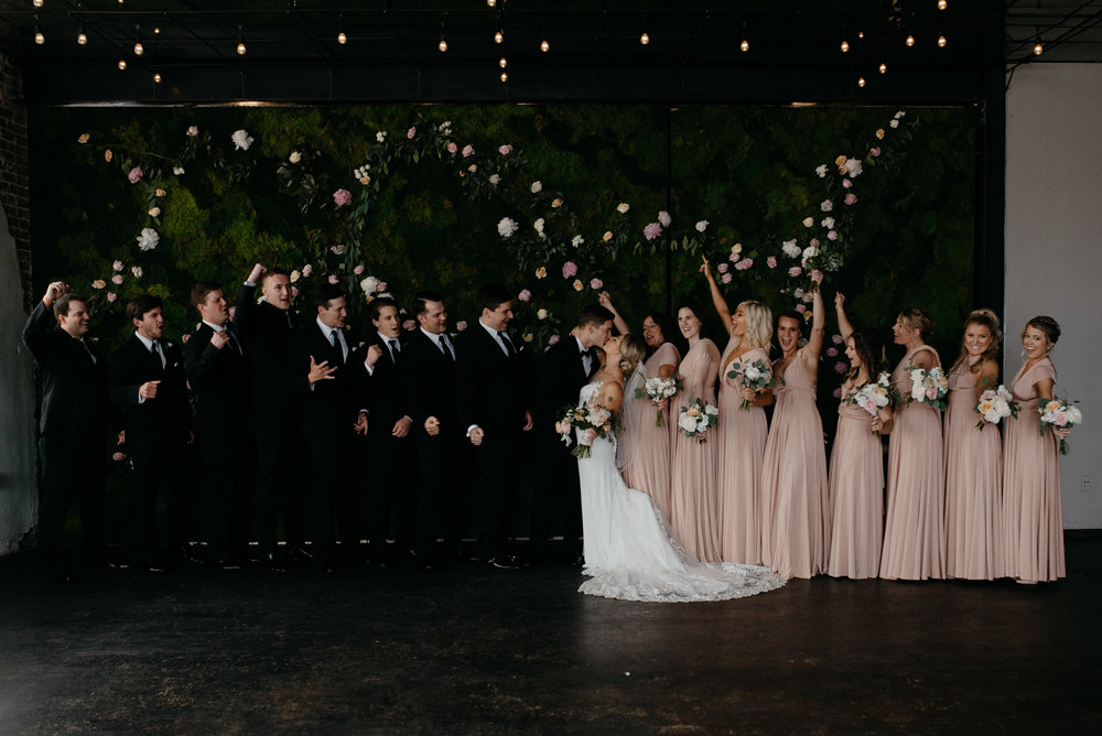 Bridal party at Moss Denver wedding