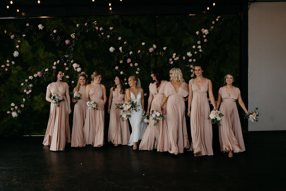 Alyssa Reinhold's photos of bridesmaids at Moss Denver wedding.