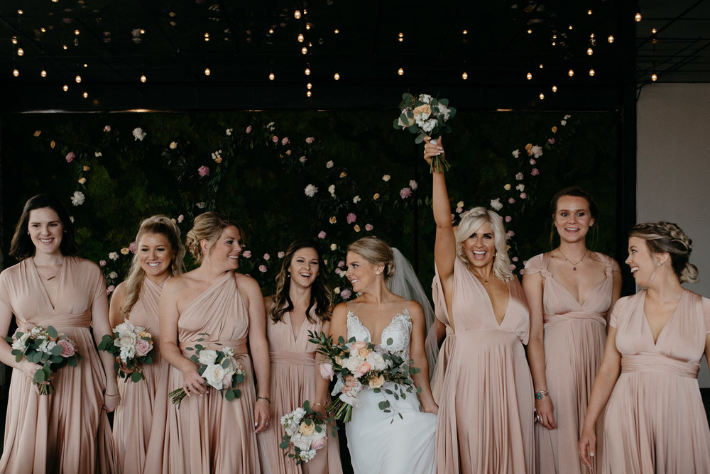 Bridal party at Denver wedding.